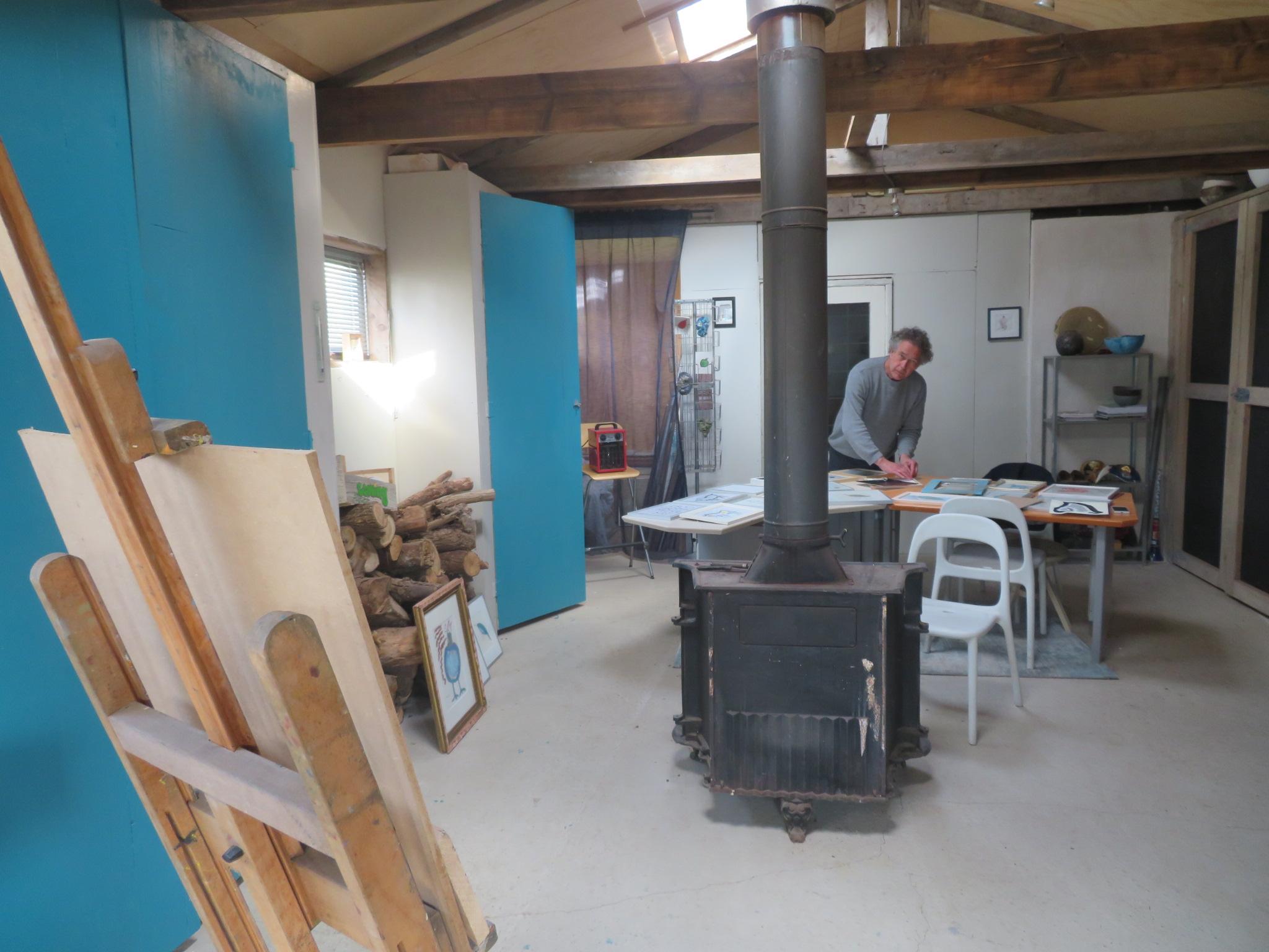 Bernhard in zijn atelier